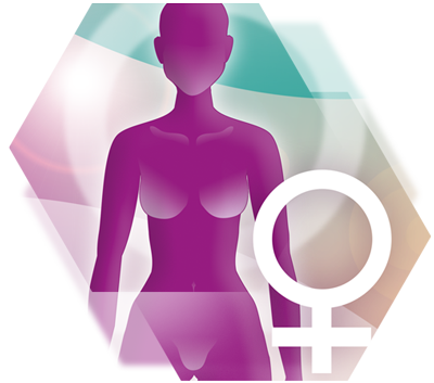 Grafik einer Frau