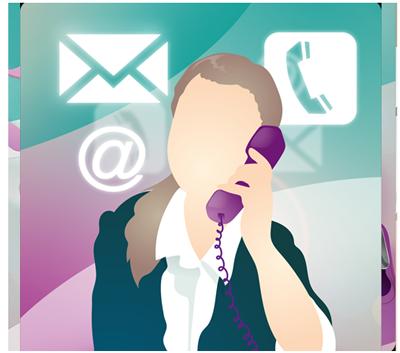 Illustration Kontakt und Beratung